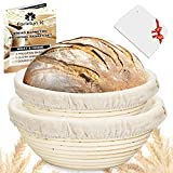 Farielyn-X 2 Set 9 Inch and 10 Inch Bread Banneton Proofing Baskets - Baking Dough Bowl Gifts...