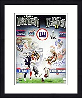 Autograph Warehouse 113774 David Tyree & Mario Manningham Autographed 16 x 20 in. Photo - Giants Super Bowl Catches JSA matted & Framed