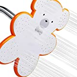 YOO.MEE Cartoon Bear Fixed Shower Heads - Comfortable Spray Care- for Kids Funny Shower- for Child Sweet Showering- Soft Water for Baby Shower Cleaning - Happy Showering Experience w/Cute White Bear