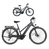 FISCHER Damen - E-Bike Trekking VIATOR 4.0i (2020), schwarz matt, 28 Zoll, RH 44 cm, Mittelmotor 50 Nm, 48 Volt Akku im Rahmen