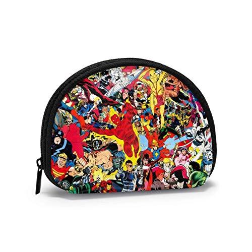Comic Super Hero - Monedero cambiador para monedas o monederos, bolso de mano, cartera, bolso portátil, multifuncionales