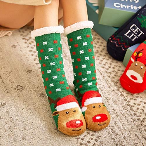 Calcetines De Piso,12 Pares De Calcetines De Navidad
