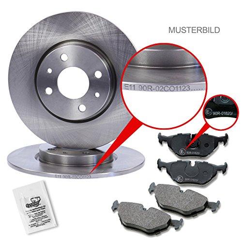 Atec Bremsscheiben, massiv, mit Bremsbelägen, Bremklötze vorne, Durchmesser 236mm