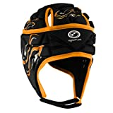 Optimum Inferno - Casco de Rugby para Niños, Multicolor (Black/Orange), Small