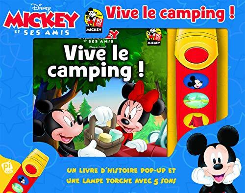 Disney Mickey Mouse et Ses Amis - Vive le camping! - Un livre d'historie pop-up et un lampe torche aves 5 songs - Pop-up Sound Book with Interactive ... (French Edition) (LES COFFRETS PIKIDS, 33)