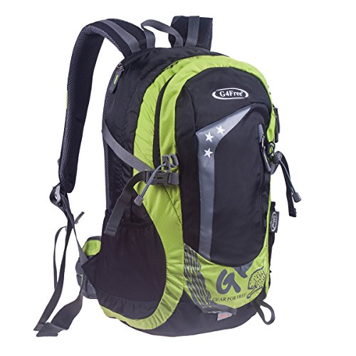 G4Free De Plein air Randonnée Escalade Sac à Dos Daypacks étanche Alpinisme Sac 45L Unisexe Haute capacité Sac de Voyage Contient Rain Cover