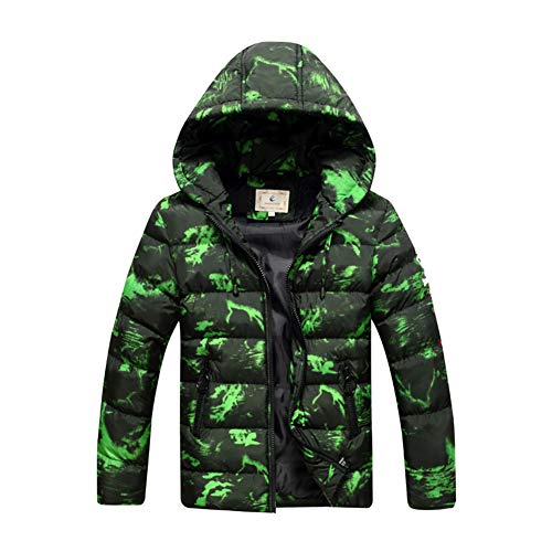 SXSHUN Boys Winter Warm Quilted Jacket with Hood Waterproof Windproof Childrens Thickened Winter Jacket Down Coat