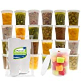 Freshware Food Storage Containers [24 Set] 32 oz Plastic Deli Containers with Lids, Slime, Soup,...