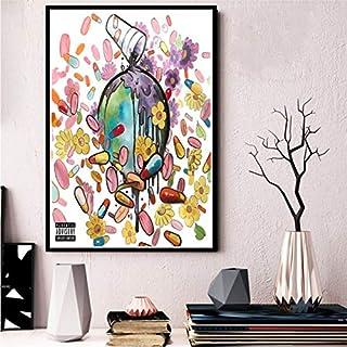 NOVELOVE Cartel e Impresiones Jugo WRLD Death Race For Love Rap Music Star Album Arte Pinturas de Lienzo Cuadros de Pared Decoración para el hogar sin Marco 30 * 42cm 13