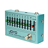 JOYO R Series 10 Band EQ Pedal Equalizer (31.25Hz-16kHz) for Electric Guitar & Bass Including 4-string/ 5-string / 6-string/ 7-string Guitars (R-12)
