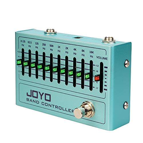 JOYO R Series 10 Band EQ Pedal Equalizer (31.25Hz-16kHz) for Electric Guitar & Bass Including 4-string/ 5-string / 6-string/ 7-string Guitar (R-12)
