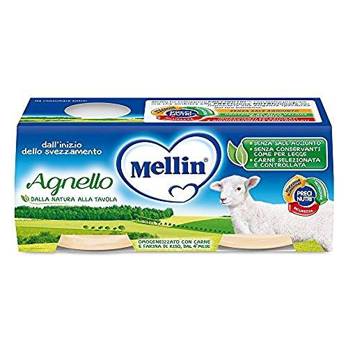 Mellin Omogeneizzato di Agnello, Blu, 4X80G