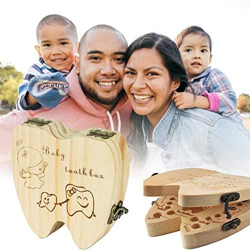 Tand houder houten tand collectie organisator opslag baby tanden Keepsake Box voor kinderen jongens meisjes geheugen