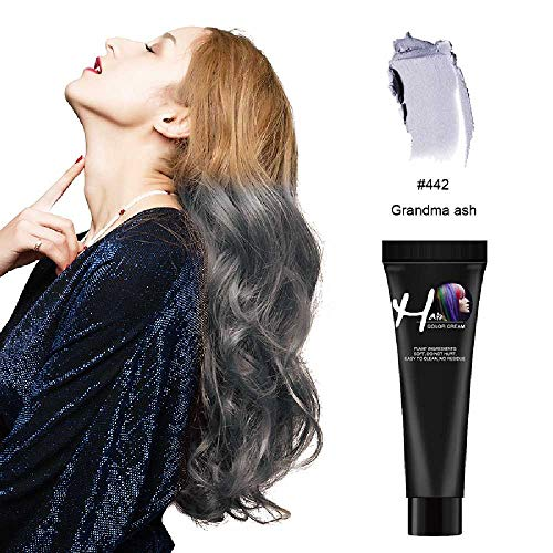 NIUHAIQING Fashion Hair Cream9 Farben Unisex Smoky Grey Punk Style Hellgrau Silber Permanent Haarfärbemittel Ungiftige Schönheit Haarfarben Elfenbein