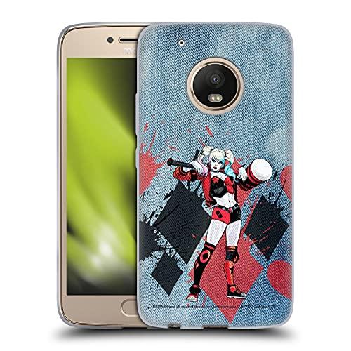 Head Case Designs sous Licence Officielle Batman DC Comics Maillet Harley Quinn Graphiques Coque en Gel Doux Compatible avec Motorola Moto G5 Plus