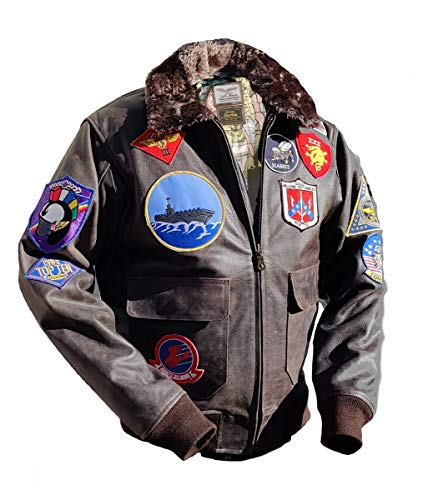 Noble House Top Gun Mavericks Fliegerjacke, Stierleder (S)