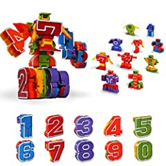 Fun Transforming Toys: Kids will love these autobots. All 10 pieces robot can transform from numbers to a combiner robot. More than 5 children in every 10 children love this transforming toys. STEM Preschool Learning Toys: Encourages logical thinking...