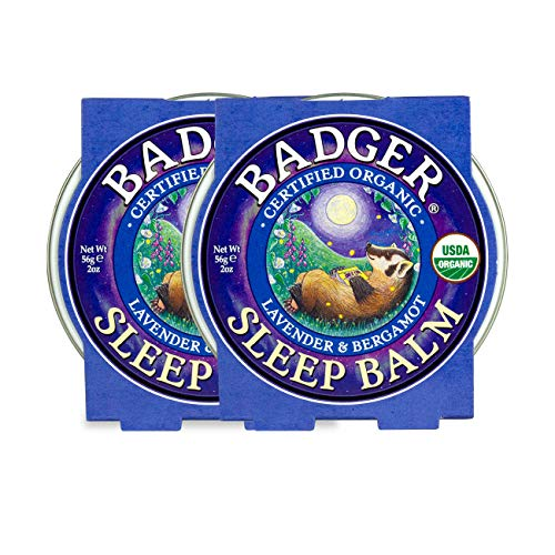 Badger - Sleep Balm, Lavender & Bergamot, Natural Sleep Balm, Scented Relaxing Balm for Children and Adults, Calming Night Balm, Organic Sleep Balm, 2 oz (2 Pack)