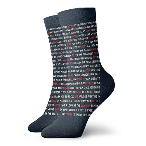 goodsale2019 Navidad David Bowie - Life On Mars Calcetines personalizados Sport Athletic Medias 30cm Calcetín para hombre mujer