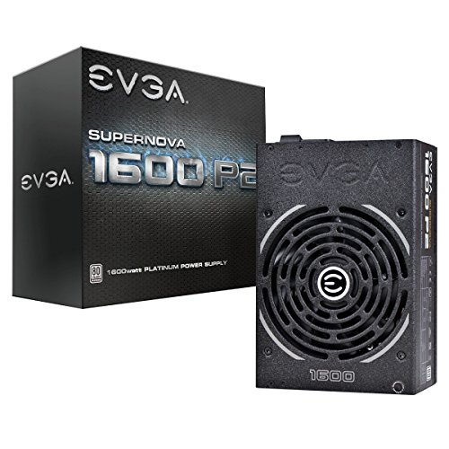 EVGA Supernova 1600 P2 80+ Platinum, 1600W ECO Mode Fully Modular NVIDIA SLI and Crossfire Ready 10 Year Warranty Power Supply 220-P2-1600-X1