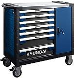 HYUNDAI Werkstattwagen SET 59004 (305-teilig, hochwertiger Werkzeugwagen, 7 Schubladen, 6 Schubladen...