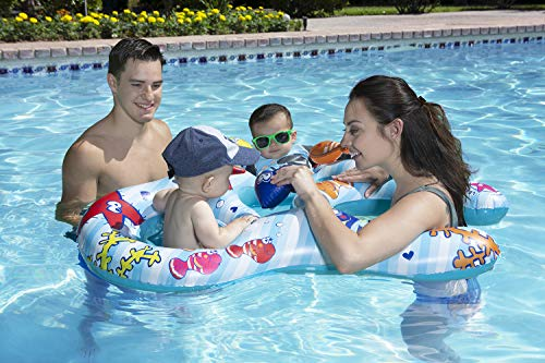 Mommy & Us Dual Baby Rider - Inflatable Swimming Pool Float for Toddlers