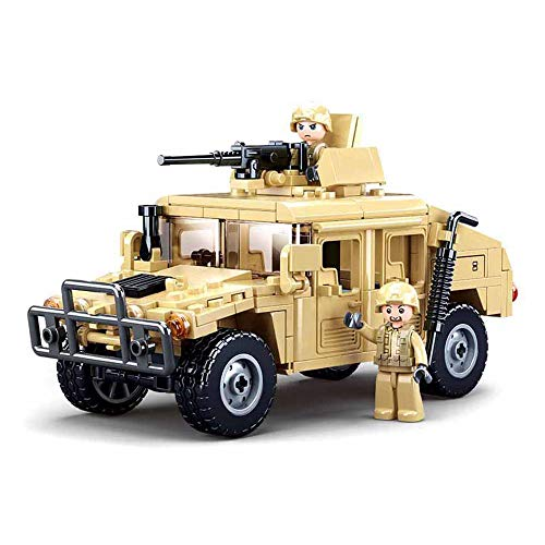 Octopbrik Military Vehicle Building Toy for Age 6 7 8 9 10 11 12+, Battle Brick, Compatible with Major Brand, Army Series Building Block with 2 Soldiers Figures (265 Pieces)