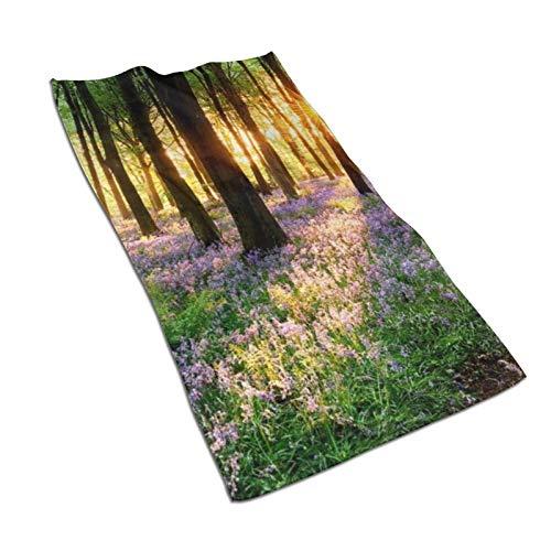 XCNGG Spring Nature Scenery Hand Towels 27.5 'X15.7' 'Toalla Facial Multiusos Ultra Suave Altamente Absorbente para baño, Hotel, Gimnasio, SPA, Yoga, Cocina, decoración del hogar