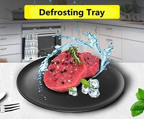 MissZZ Bandeja de descongelación, Placa Redonda de Placa de descongelación rápida para Carne de Pollo, Pescado, langostinos, sin Electricidad, Productos químicos, microondas