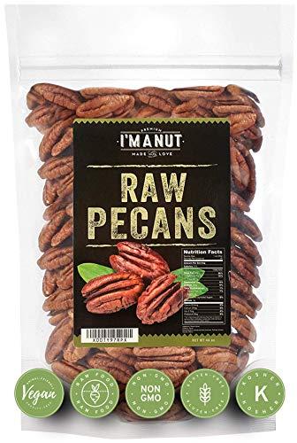 Raw Pecans Halves, 44oz (2.75 Pounds) Compares to Organic, NO PPO, Unpasteurized, 100% Natural, Extra Fancy, No Preservatives, Non-GMO, Pecan Halves 2.75 lb