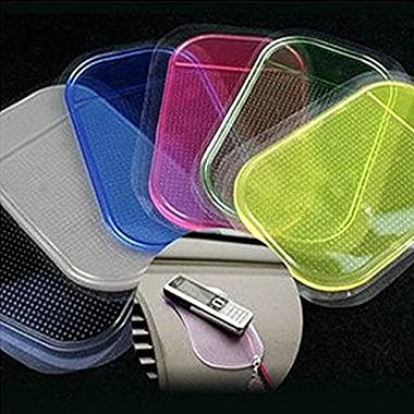 Levina 5PCS Automobiles Interior Accessories For Mobile Phone Mp3mp4 Pad GPS Anti Slip Car Sticky Anti-Slip Mat Work…