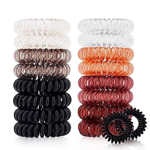 18 Pack Hair Ties, Vinieesha No Crease Spiral...