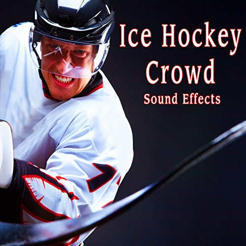 Fast Hockey Skate Bys with Stick and Light Voices in Background