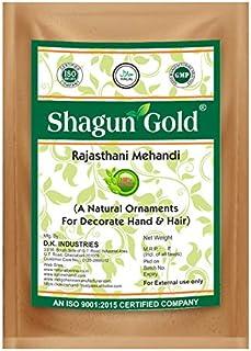 Shagun Gold 100% Natural & Pure Rajasthani Henna Powder for Hair Coloring, 200 g