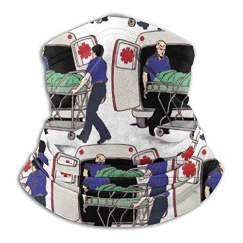JONINOT Ambulancia Servicios de Emergencia Paramédicos Calentador para el Cuello, Calentador a Prueba de Viento Bufanda para la Cara Bufanda mágica Bandana Balaclava