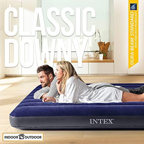 Intex 64757 - Colchón hinchable Dura-Beam Classic Downy
