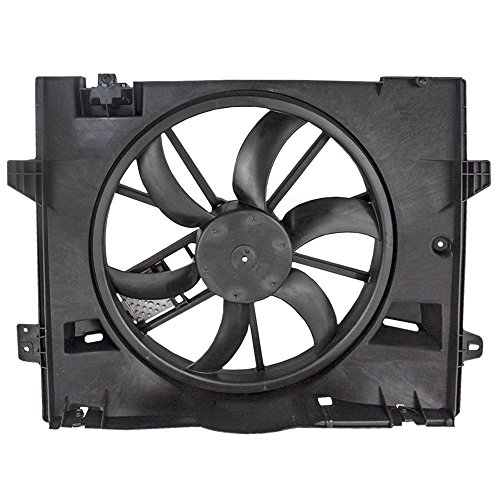 Radiator Cooling Fan Motor Assembly with Control Module Replacement for Ford Lincoln Mercury 8W1Z 8C607 C