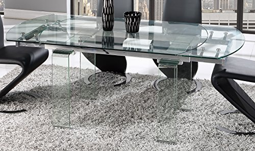 Global Furniture Dining Table, Clear Glass