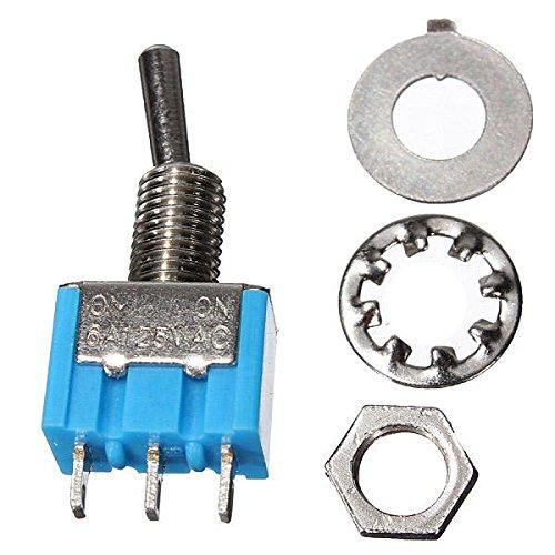 Condensadores Interruptor SPDT 3 Botones Toggle AC 125V 6A ON/ON 2 Posición 50pcs