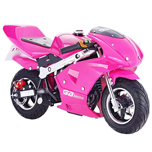 Superrio New Gas Mini Pocket Bike Motorcycle 40cc 4-Stroke Engine (Pink)