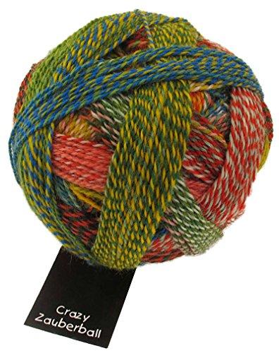 Schoppel Wolle Zauberball Crazy Fb. 1701 Papagei, Bunte Sockenwolle mit Farbverlauf zum Stricken oder Häkeln