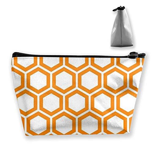 Trapèze - Bolsa de almacenamiento para cosméticos, diseño de panal de abeja, con cremallera, multifuncional, para guardar monedas, para viajes, para llevar al aire libre