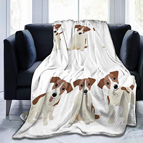 Huisdierdeken Russell Jack Russell Terrier hond schattig grappig Avatar puppy deken Throw super zacht fuzzy comfortabele warme pluizige pluche deken voor bank woonkamer herfst Hi