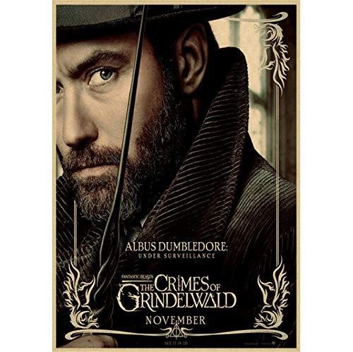 Fantastic Beasts And Where To Find Them Klassisches Filmposter Bar Cafe Wohnzimmer Dekoratives Poster rahmenloses Gemälde 50 x 70 cm (E0786)