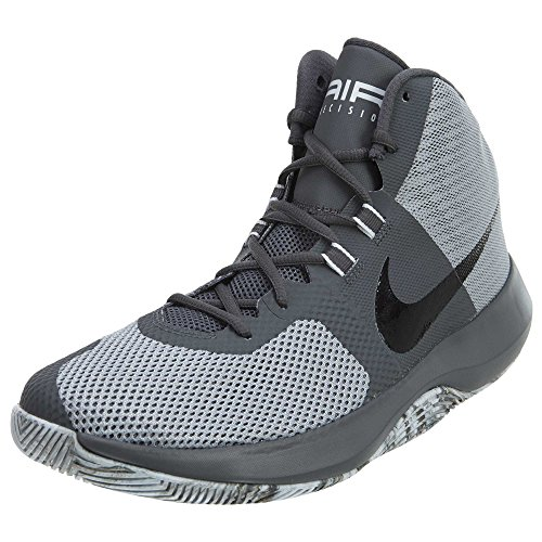 Nike Men's Air Precision High-Top Basketball Shoe (10), Wolf Grey/Black-dark Grey