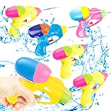 Set di 6 pistole ad acqua giocattolo, pistola ad acqua, pistola ad acqua, giocattolo per bambini, acquatico, piscina estiva (6 pezzi)
