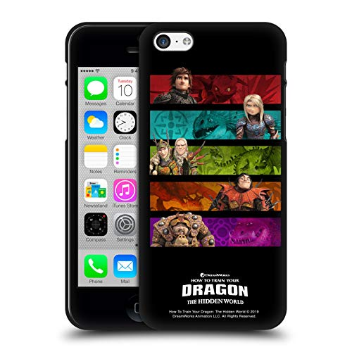 Head Case Designs Ufficiale How To Train Your Dragon Gang III Piloti Cover Nera in Morbido Gel Compatibile con Apple iPhone 5 / iPhone 5s / iPhone SE 2016