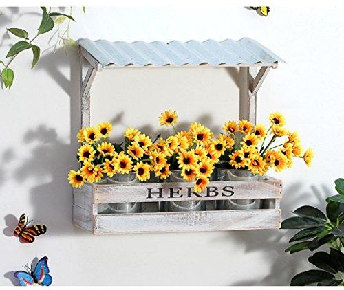 SILOLA Support de Fleur en Bois Massif Support de Plante Mural créatif Échelle de Fleurs décorative pour intérieur extérieur