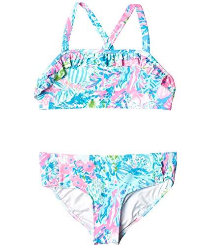 Lilly Pulitzer Kids Girl's CAIA UPF 50+ Bikini (Toddler/Little Kids/Big Kids) Multi Fished My Wish 4 Little Kids