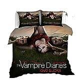 AmenSixye Juego de Cama con Estampado 3D de The Vampire Diaries,...